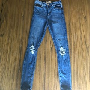 ASOS Ridley jean with busted knee